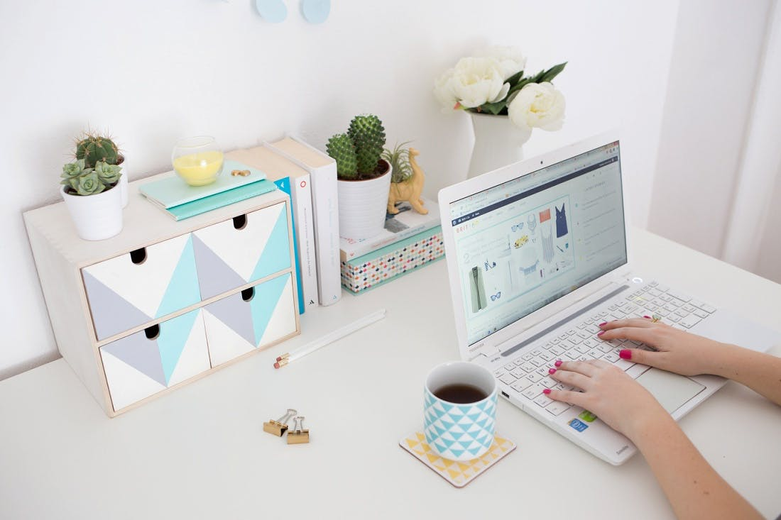 Desk storage just got a whole lot easier with this modern IKEA Moppe makeover