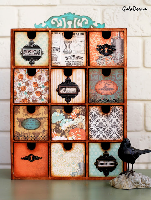 Can't get enough of this gorgeous IKEA Moppe hack with steampunk style decoupage