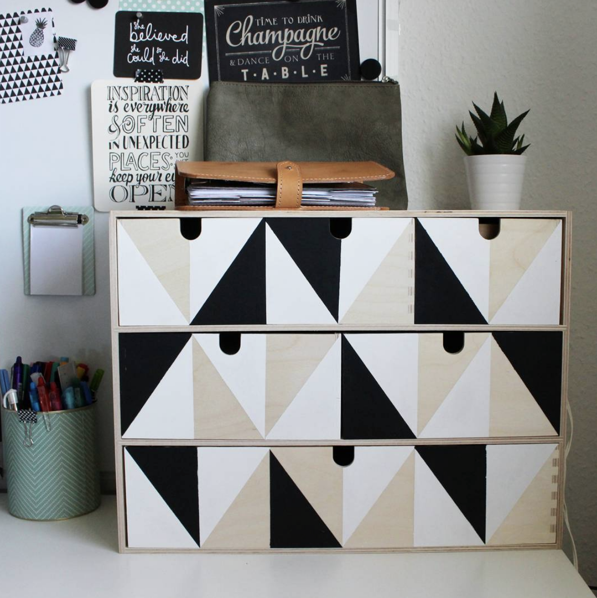 This geometric IKEA Moppe hack is a great modern makeover
