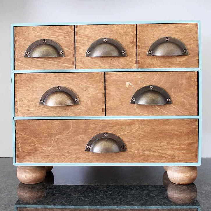 This IKEA Moppe hack took vintage hardware and made this piece extra special