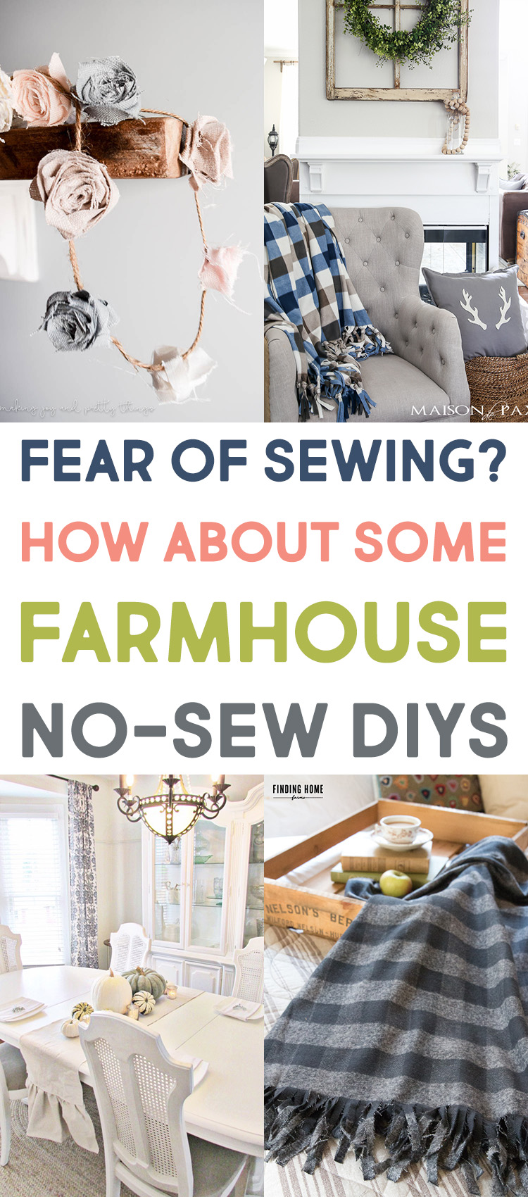 Fear of Sewing? How About Some Farmhouse No-Sew DIYs