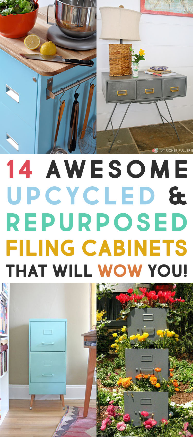 14 Awesome Upcycled and Repurposed Filing Cabinets that will WoW You!