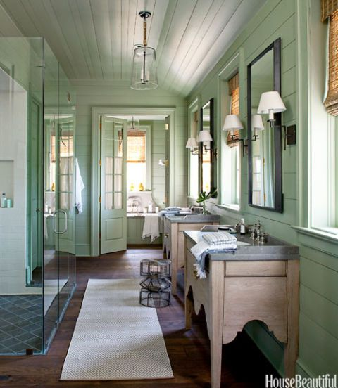 Spa Like Master Bathroom Green
