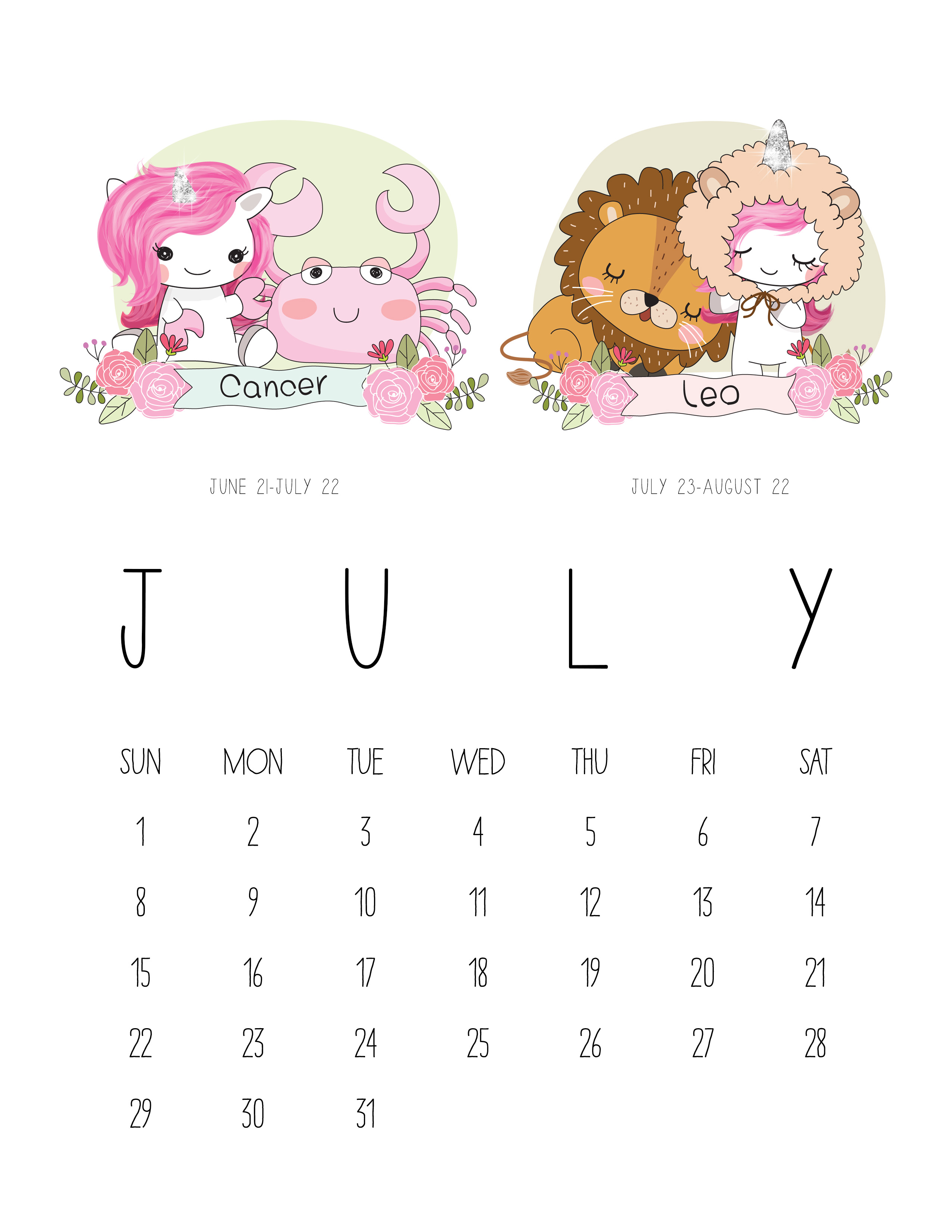 List of Synonyms and Antonyms of the Word: july calendar 2015 zodiac