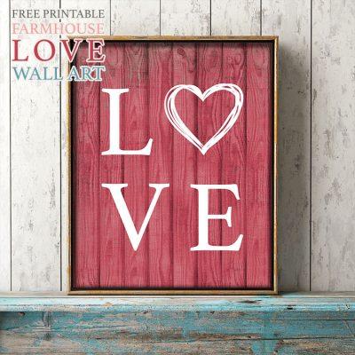 Free Printable Farmhouse Love Wall Art