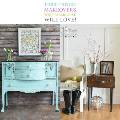 Thrift Store Makeovers Your Farmhouse Will Love
