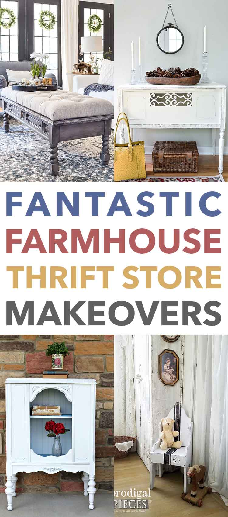 These farmhouse thrift store makeovers are easy and adorable.