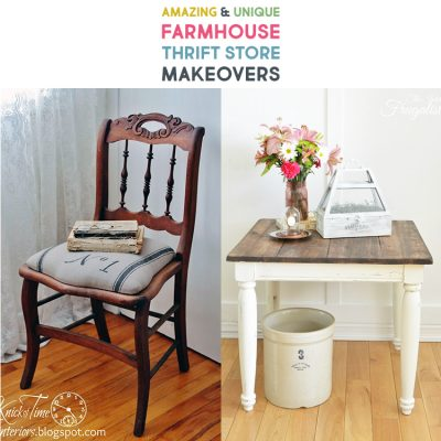 Amazing and Unique Farmhouse Thrift Store Makeovers