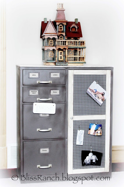 14 Awesome Upcycled And Repurposed Filing Cabinets That: upcycled metal filing cabinet