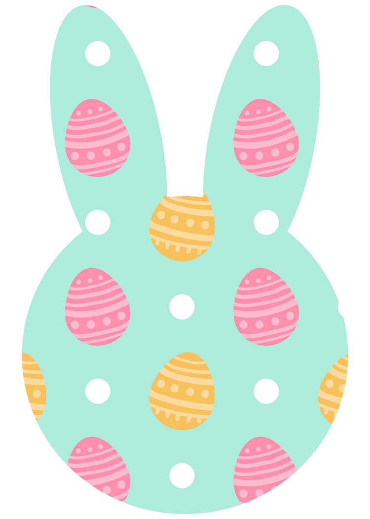 This is an image of Playful Printable Easter Egg