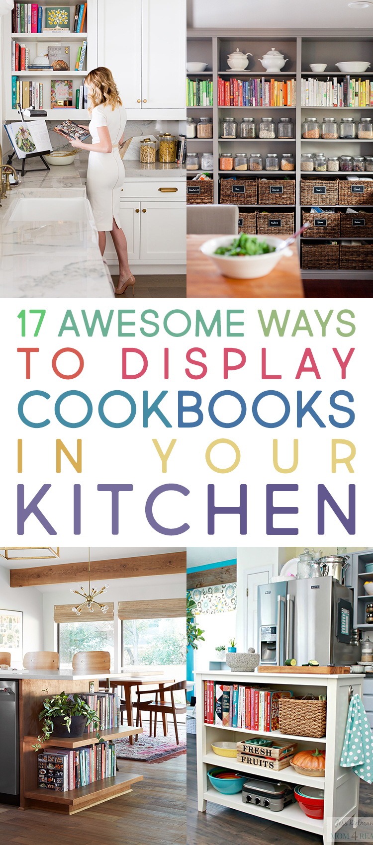 17 Awesome Ways To Display Cookbooks in Your Kitchen - The Cottage ...