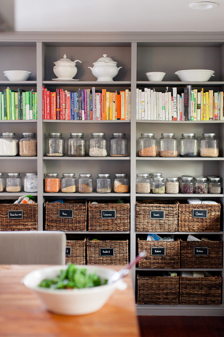 open kitchen pantry shelving design ideas | 17 Awesome Ways To Display Cookbooks in Your Kitchen - The ...