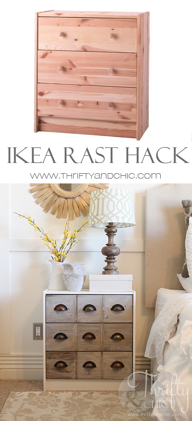 Check out these tips to convert the Ikea rast to your farmhouse dream.