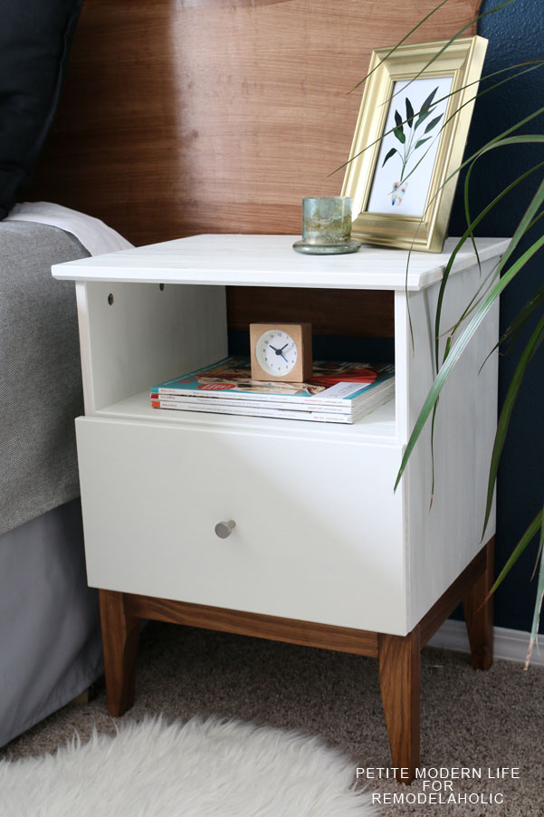This IKEA night stand got an amazing mid century modern upgrade