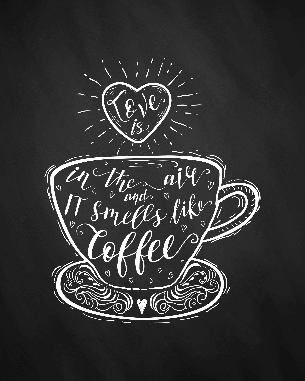 Chalkboard Coffee Art - One Artsy Mama for Dawn Nicole Designs  |Coffee Chalk Art