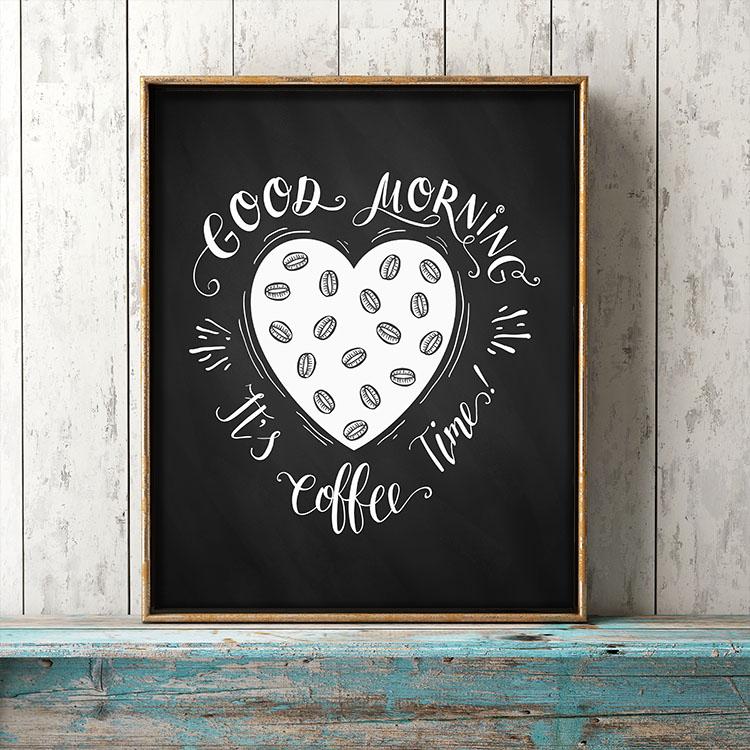 Free Printable Farmhouse Chalkboard Coffee Wall Art - The ...