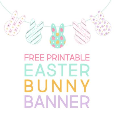 Free Printable Easter Bunny Banner