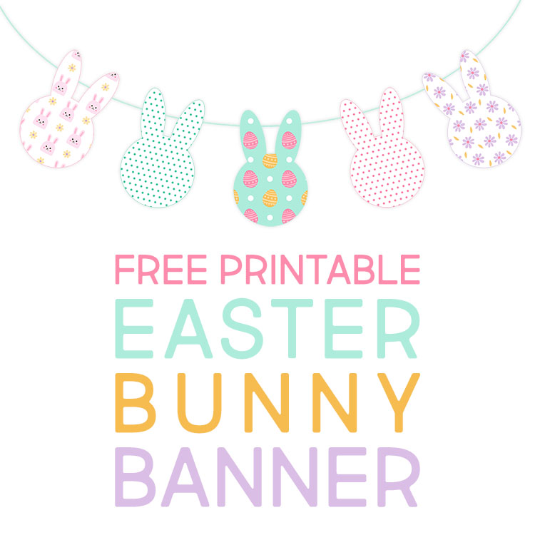 picture relating to Easter Bunny Printable called Totally free Printable Easter Bunny Banner - The Cottage Industry