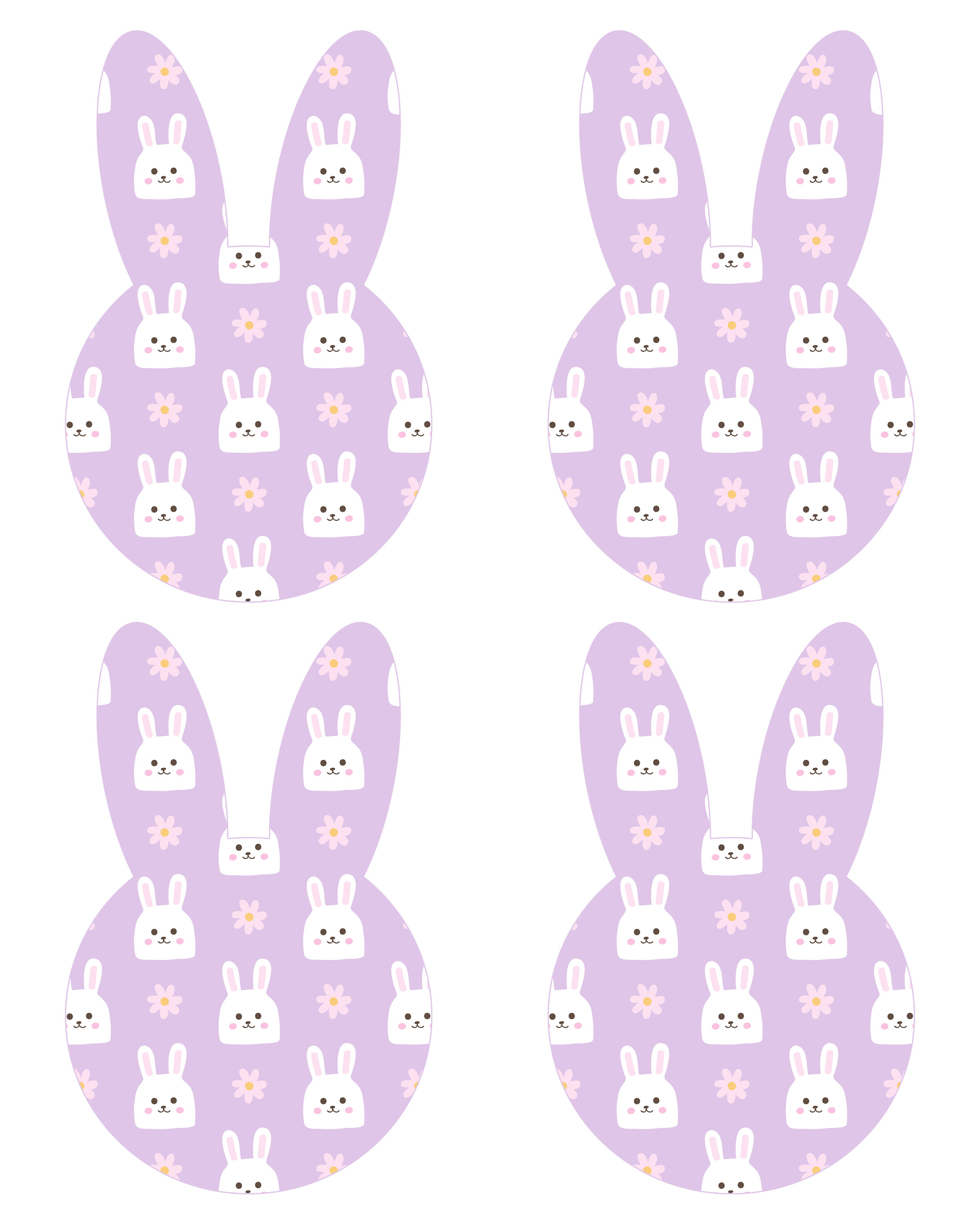 graphic relating to Easter Banner Printable called Cost-free Printable Easter Bunny Banner - The Cottage Current market
