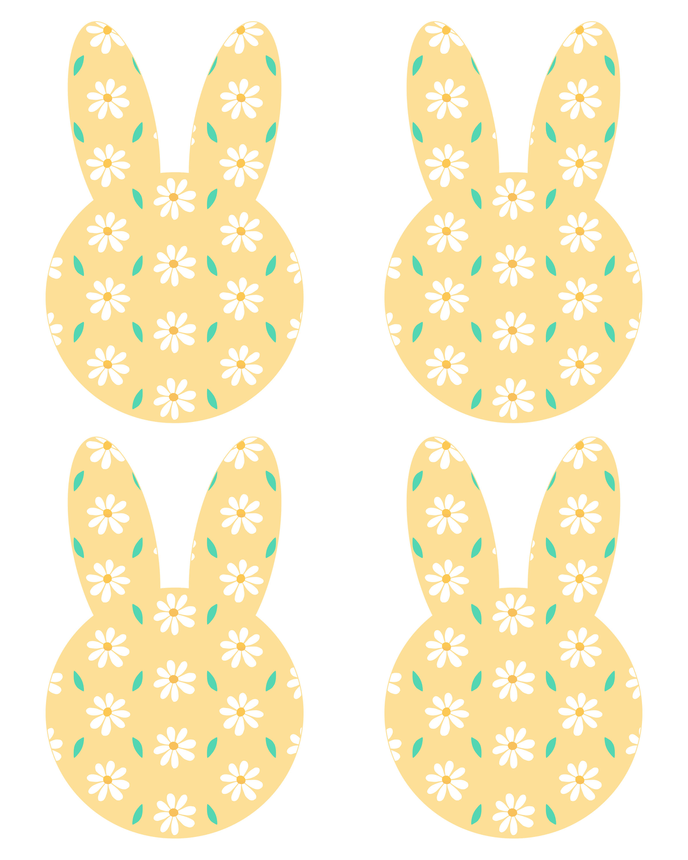 picture regarding Easter Banner Printable referred to as Absolutely free Printable Easter Bunny Banner - The Cottage Sector