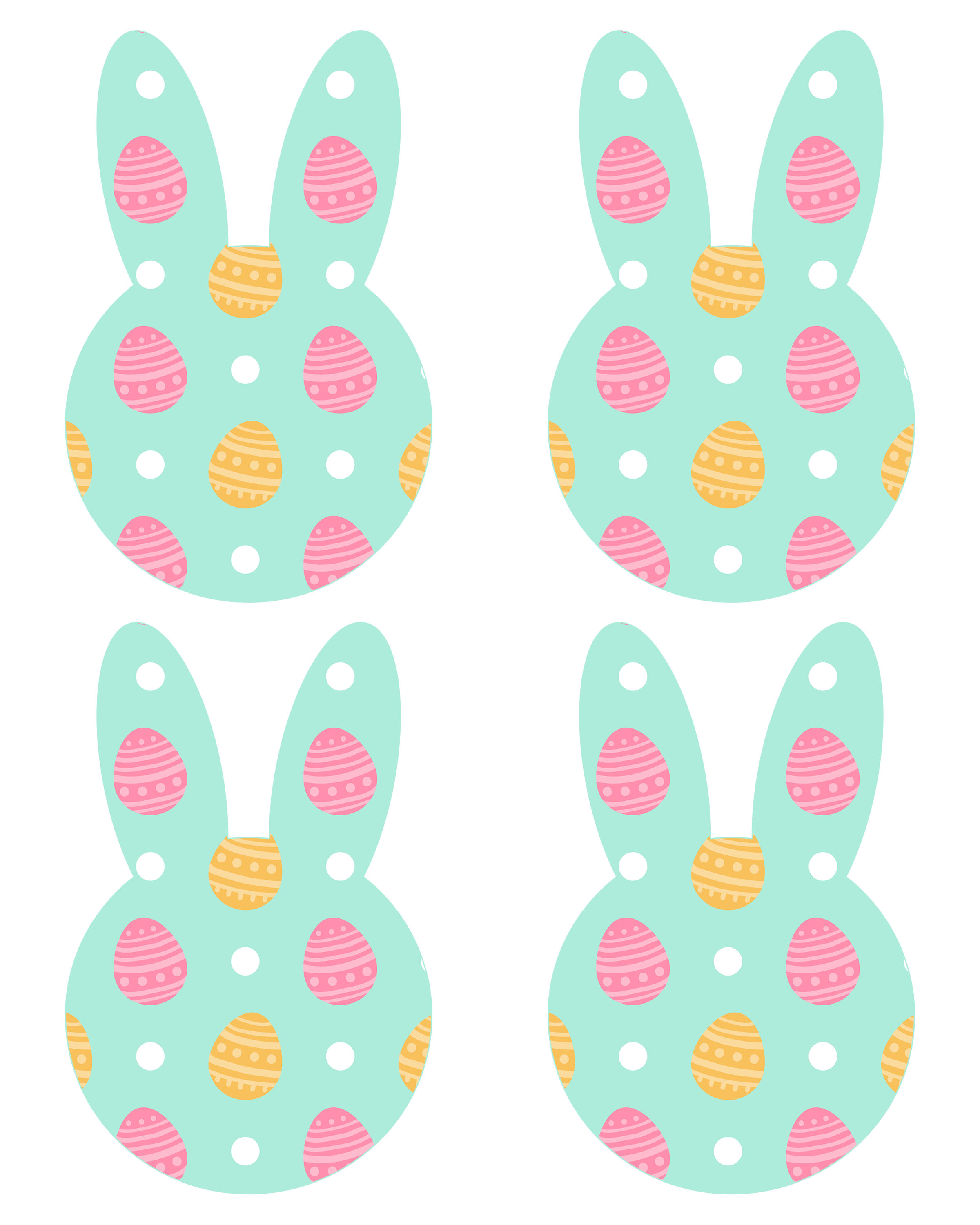 graphic relating to Printable Easter Egg titled No cost Printable Easter Bunny Banner - The Cottage Industry