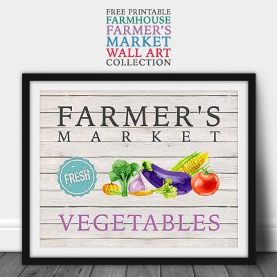 Free Printable Farmhouse Farmer's Market Wall Art