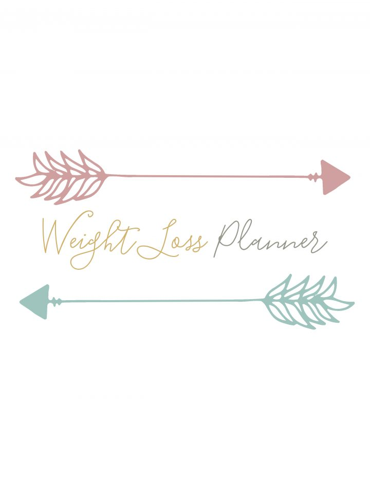 This printable weight loss planner is free and handy too.