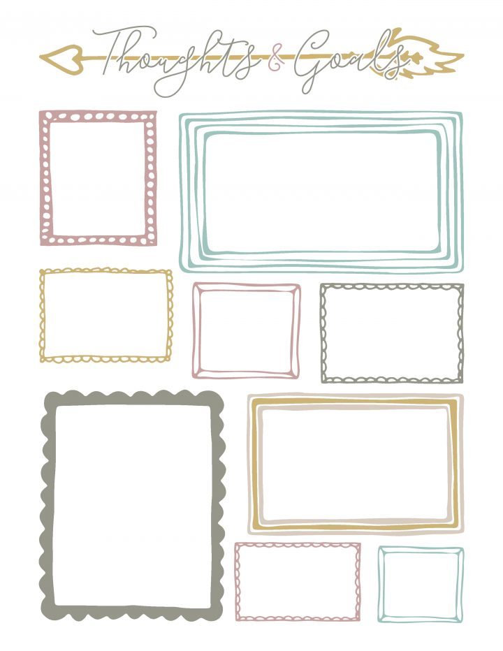 Keep track of your thoughts and goals with this printable sheet.