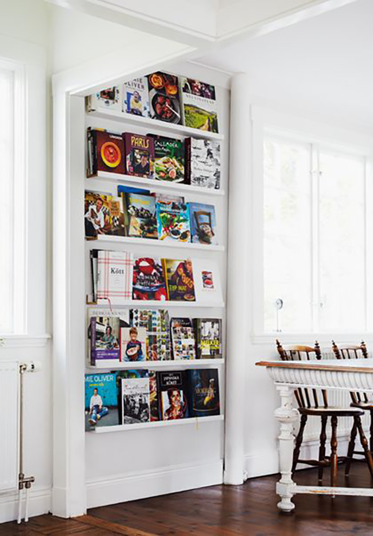 17 Awesome Ways To Display Cookbooks In Your Kitchen The