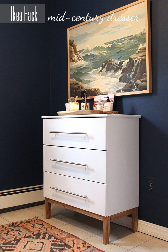 This IKEA dresser was transformed into a modern design dream with some paint and new hardware