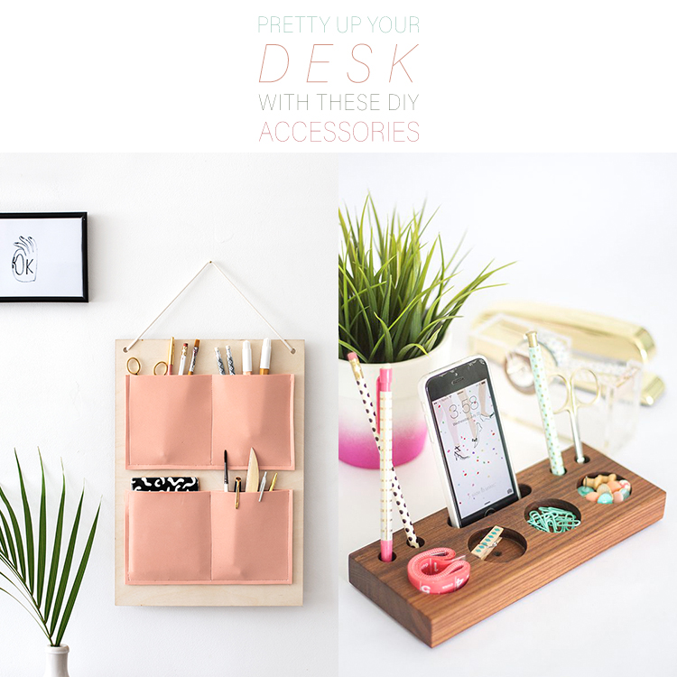 cute desk organizers pretty up your desk with these diy desk accessories the 14396