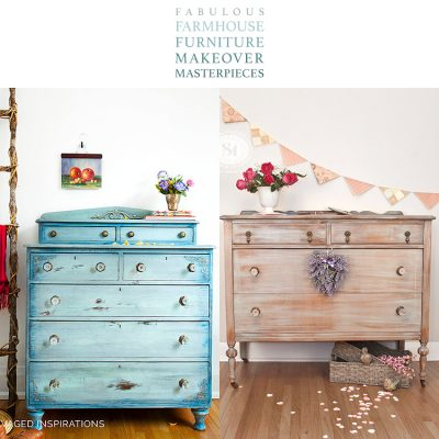 Fabulous Farmhouse Furniture Makeover Masterpieces
