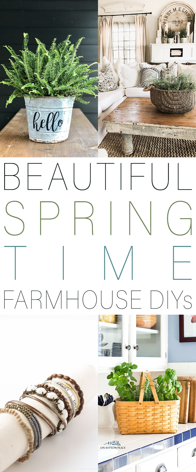 Beautiful Spring Time Farmhouse DIYS