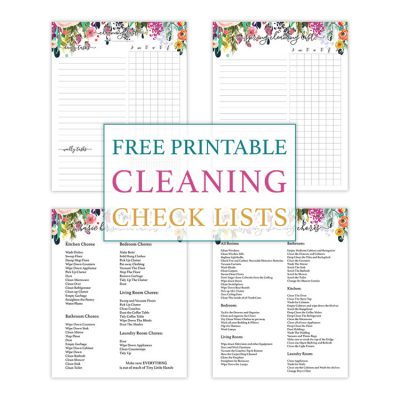 Free Printable Cleaning Check Lists