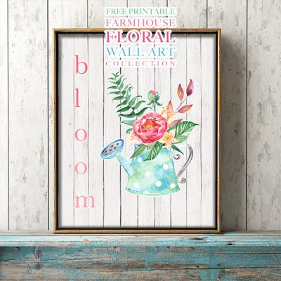 Free Printable Farmhouse Floral Wall Art Collection