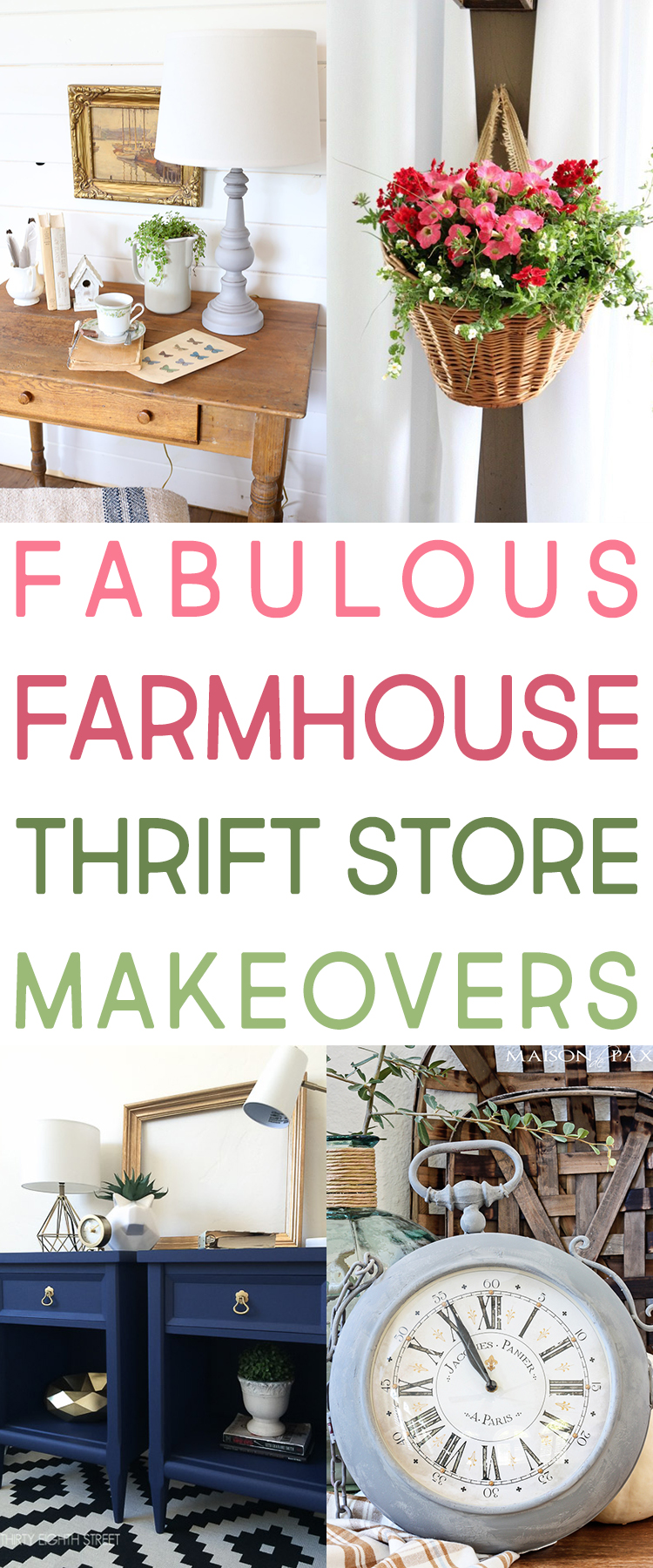 Fabulous Farmhouse Thrift Store Makeovers
