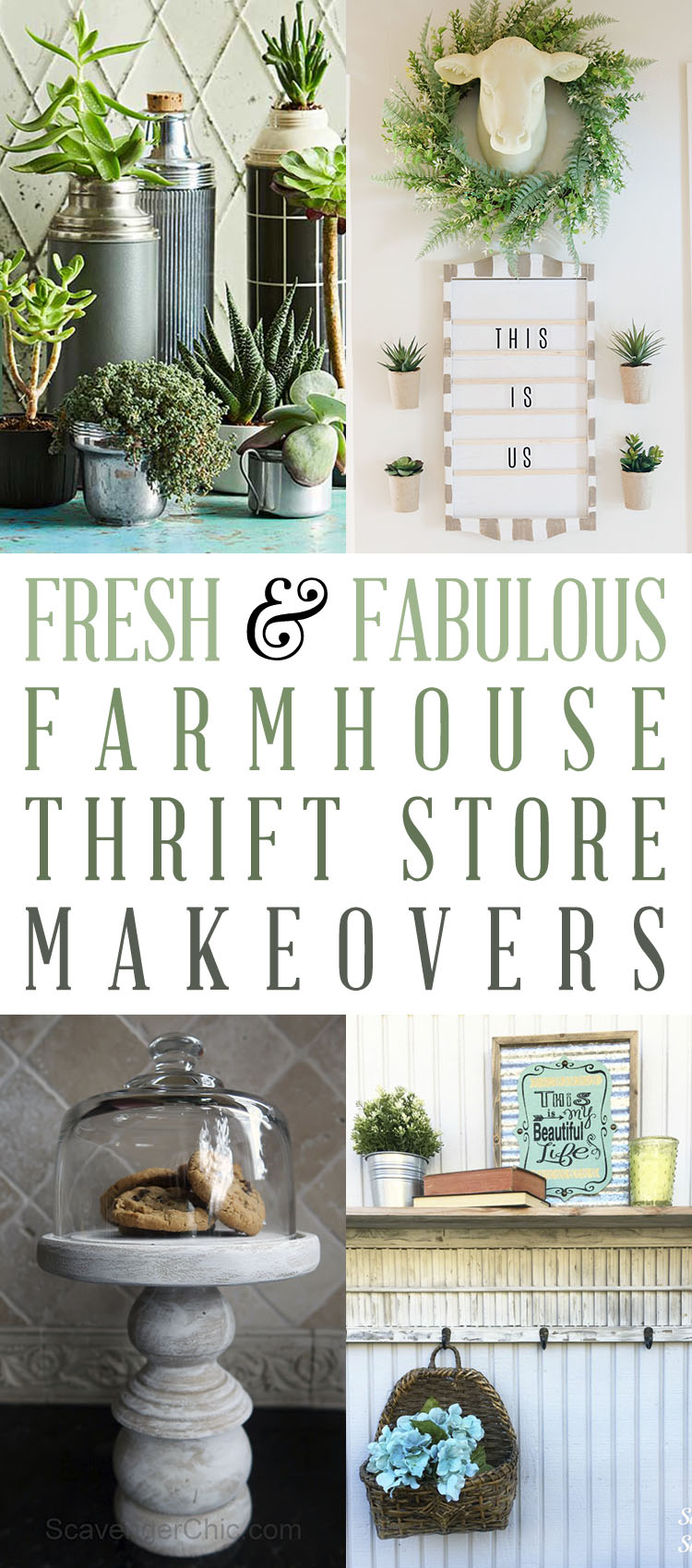 Try out these farmhouse thrift store makeovers to update your space today.