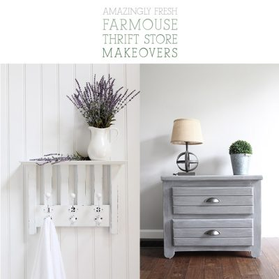 Amazingly Fresh Farmhouse Thrift Store Makeovers