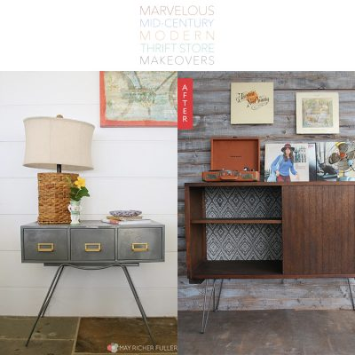 Marvelous Mid Century Modern Thrift Store Makeovers