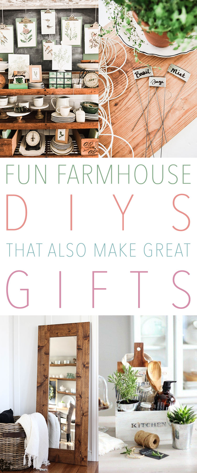 Fun Farmhouse DIYS That Also Make Great Gifts