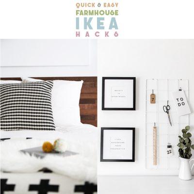 Quick and Easy Farmhouse IKEA Hacks