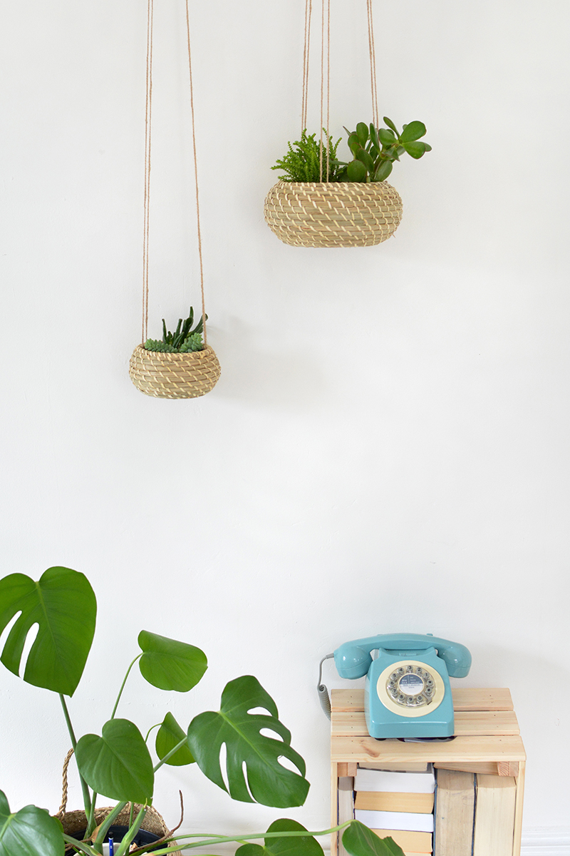 This hanging baskets from IKEA make perfect planters