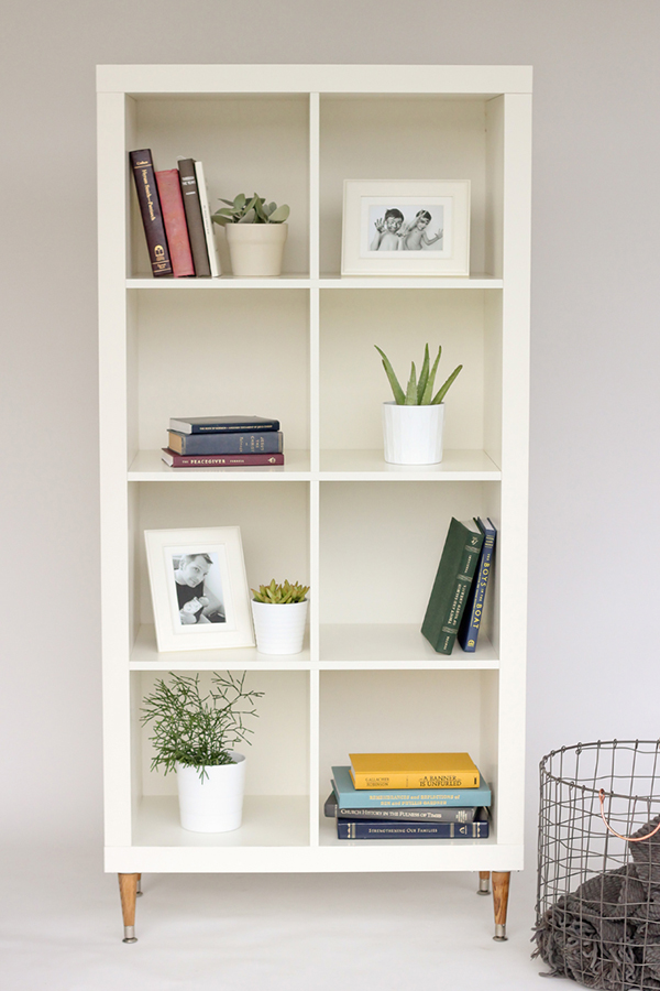This modern/contemporary bookcase is a simple DIY IKEA hack you'll want to try for yourself