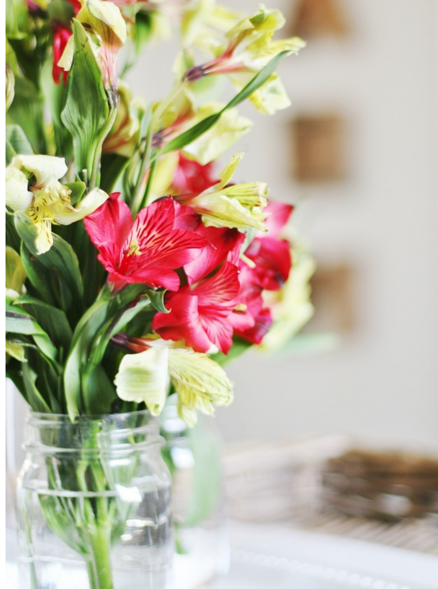 Fresh flowers always great additions to any home.