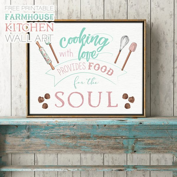 Free Printable Farmhouse Kitchen Wall Art