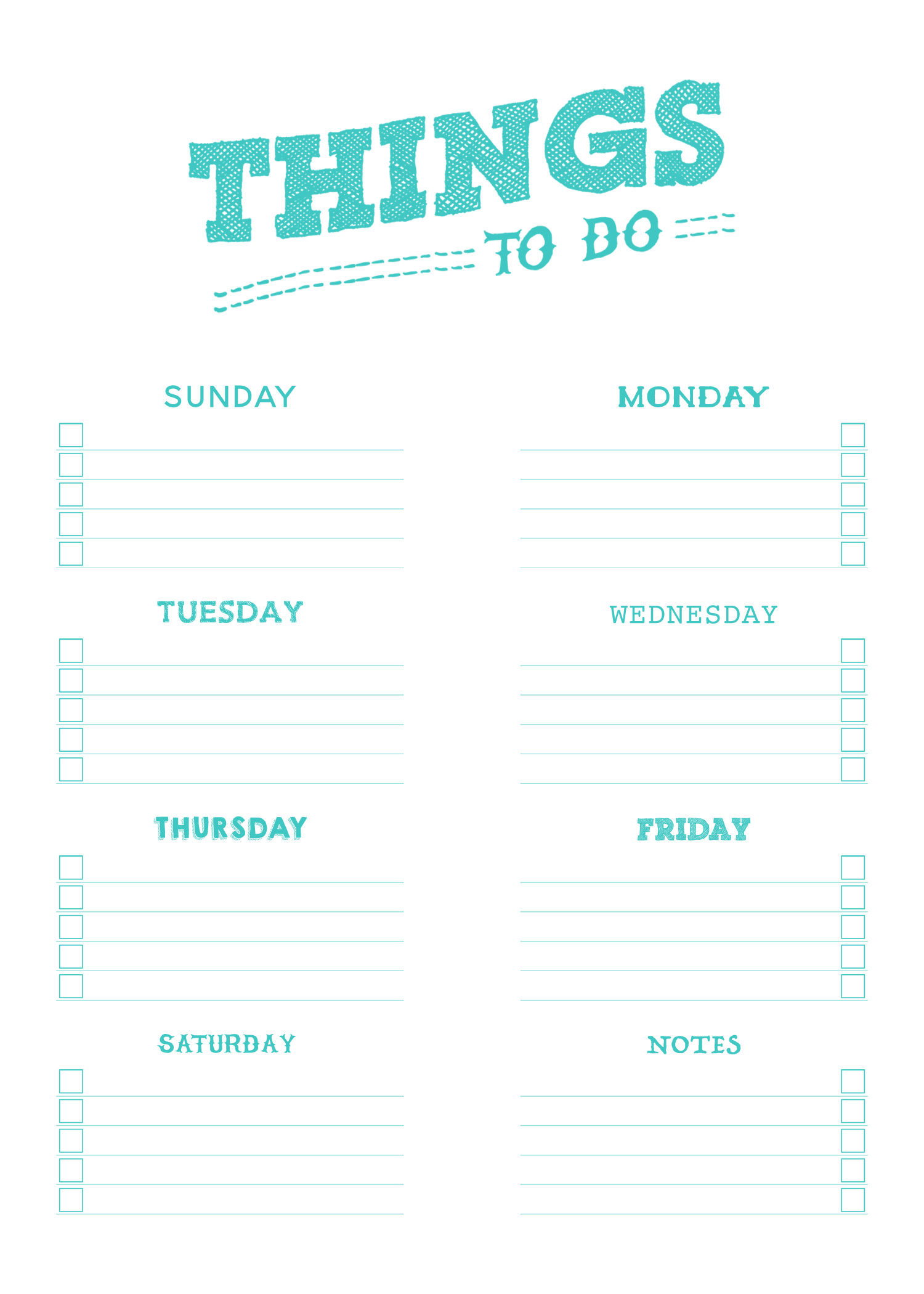It is a picture of Decisive Printable Things to Do List