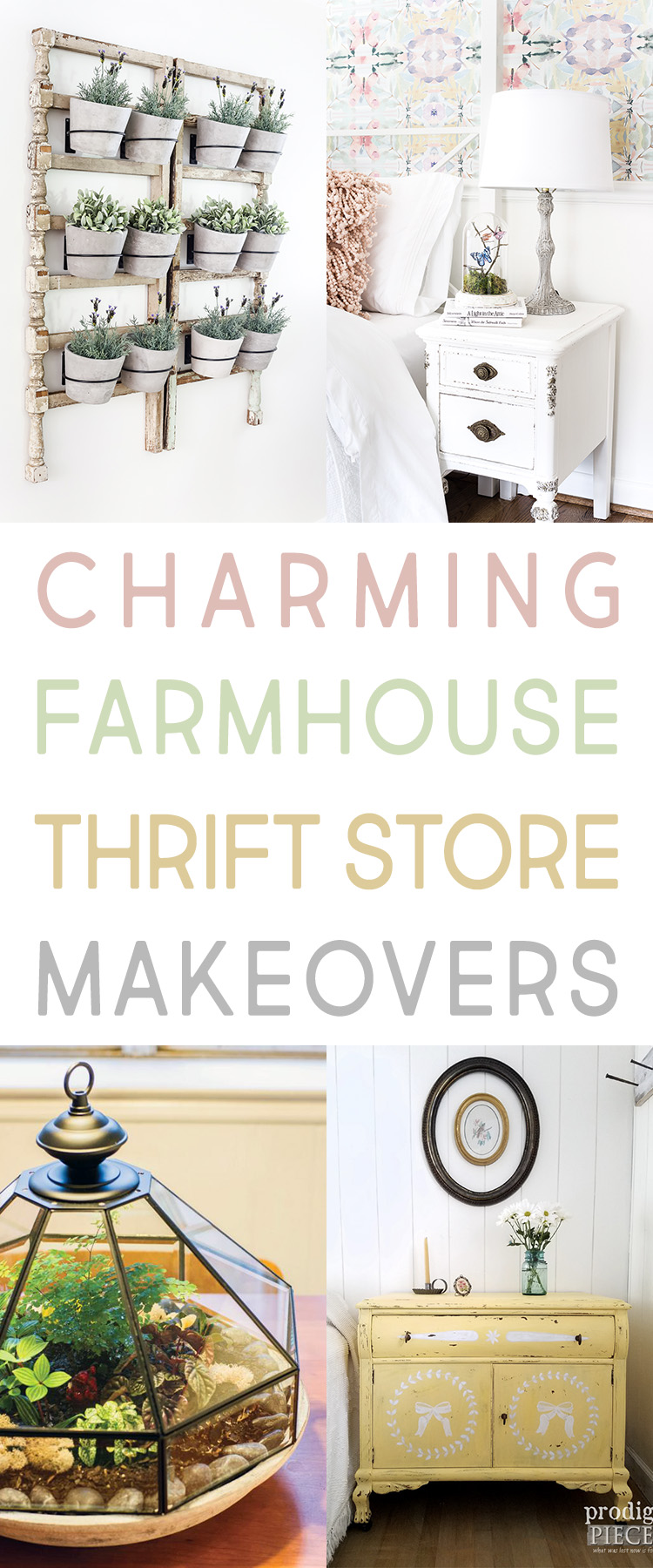 These charming farmhouse thrift store makeovers are unique and so cute.