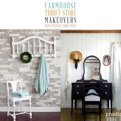 Farmhouse Thrift Store Makeovers with Pottery Barn Style