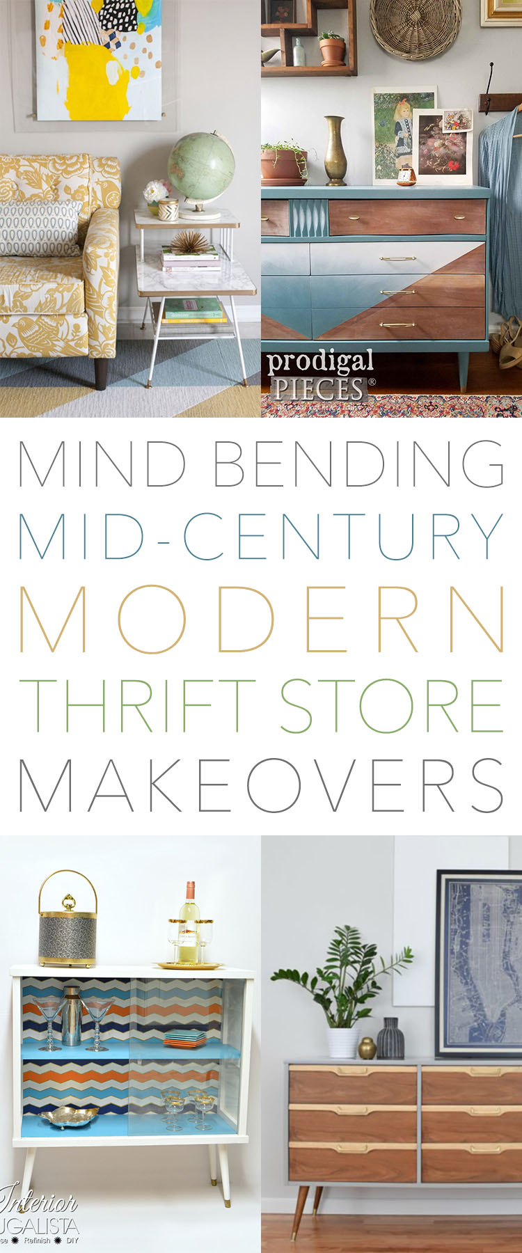 Mind Bending Mid Century Modern Thrift Store Makeovers