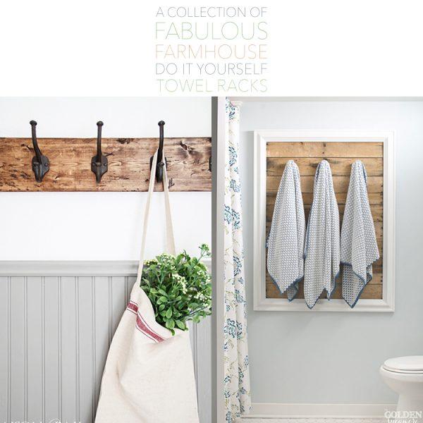 A Collection of Fabulous Farmhouse DIY Towel Racks